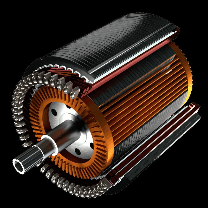 ASM Asynchronmotor Motorschnitt